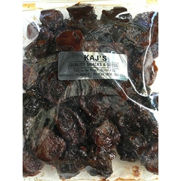 Kajs Rock Salt Plum Wet Li Hing Mui Dried Preserved Plums 8 Ounces