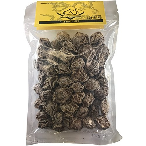Kajs Sweet White Dried Plums 8 oz. Li Hing Mui Hawaiian Fruit...
