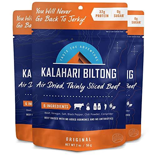 Original Kalahari Biltong, Air-Dried Thinly Sliced Beef, 2oz Pa...