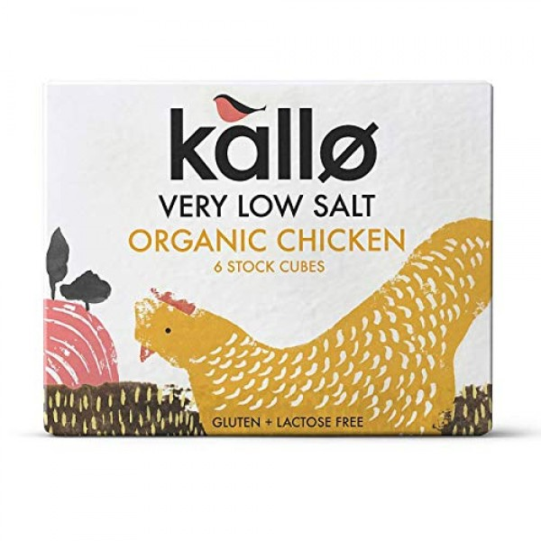 3 x Kallo Organic Low Salt Chicken 6 Stock Cubes