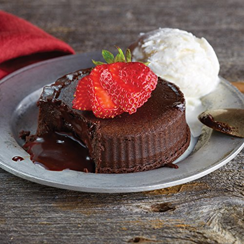 Dark Chocolate Truffle Lava Cakes with Chocolate Ganache, 4 coun...