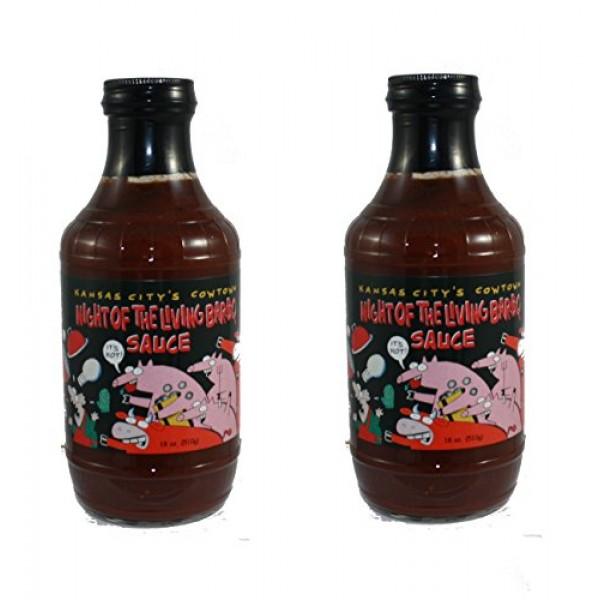 Kansas Citys Cowtown Night of the Living Bar-B-Q Sauce - 2 Pack