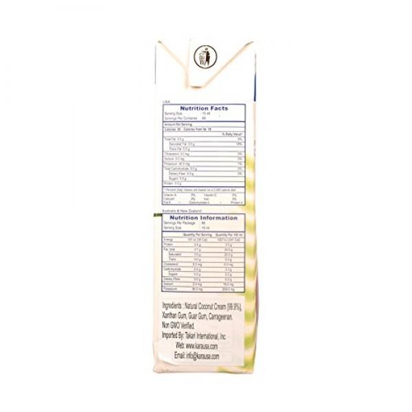 Kara UHT Coconut Cream 33.8 Oz./1000ml