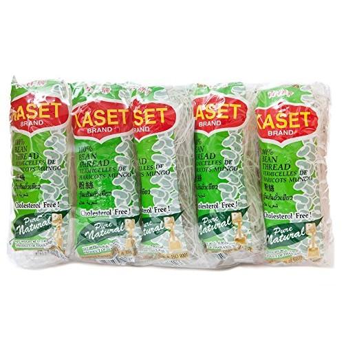 Kaset Bean Thread Glass Noodles 1.41 Oz (40 G) x 10 From Thailan...