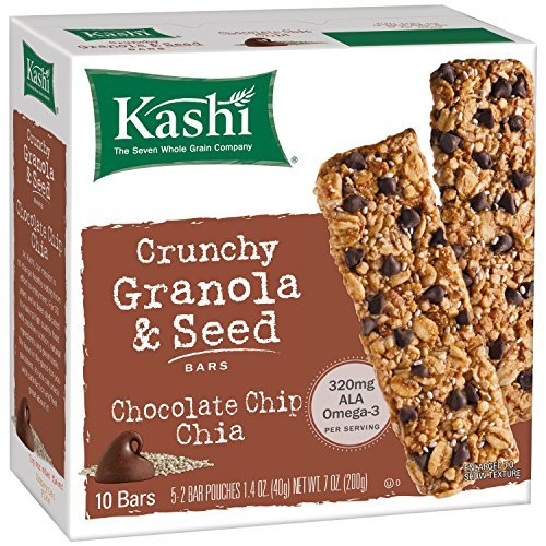 Chocolate Chip Chia Crunchy Granola & Seed Bars 7 Ounces Case o...