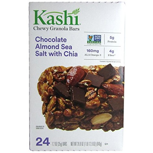 Kashi Granola Bars, Chewy, Chocolate Almond & Sea Salt with Chia...