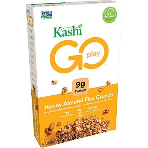 Kashi GO Honey Almond Flax Crunch Breakfast Cereal - Non-GMO Pro...