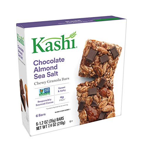 Kashi, Chewy Granola Bars, Chocolate Almond Sea Salt, Non-GMO Pr...