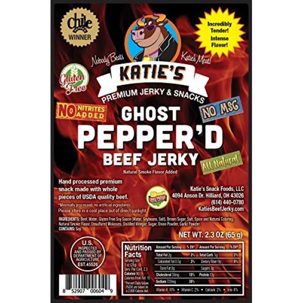 Ghost Pepperd Beef Jerky-GLUTEN FREE - No Preservatives, Nitrit...