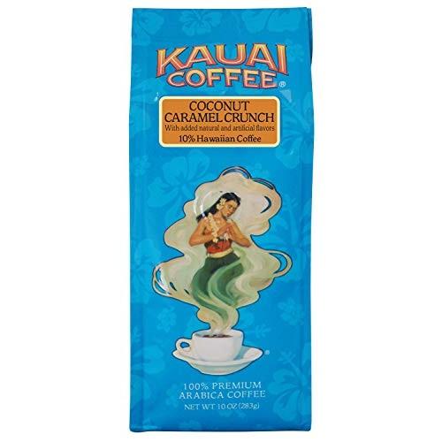 Kauai Hawaiian Ground Coffee, Coconut Caramel Crunch Flavor 10 ...