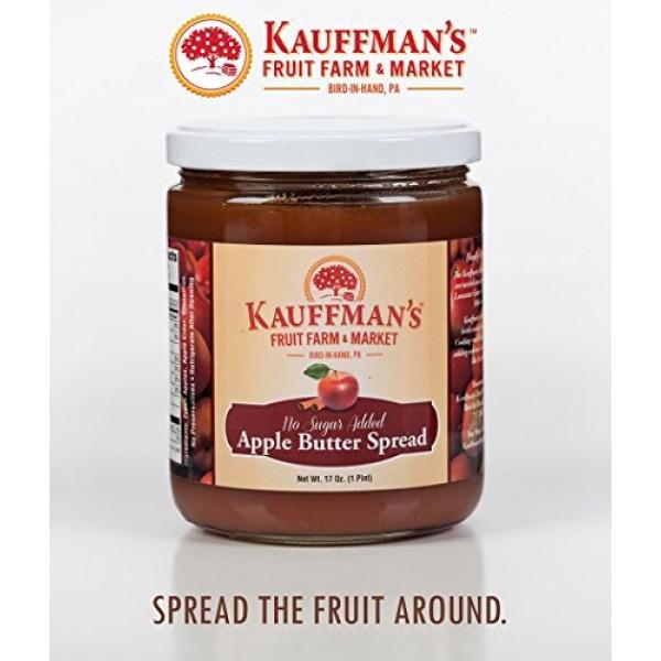 Kauffmans Fruit Farm Spiced Apple Butter, Homemade, No Sugar Ad...