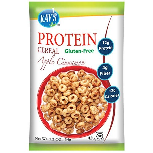 Kays Natural Protein Cereal - Apple Cinnamon Flavor, 1.2-Ounce ...