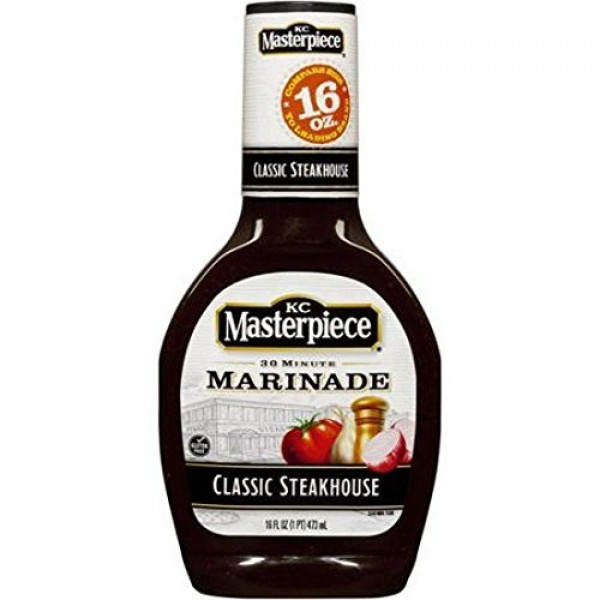 KC Masterpiece Classic Steakhouse Marinade Pack of 2 16 oz Bot...