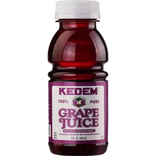 Kedem Concord Grape Juice, 8oz Plastic Bottle 24 Pack