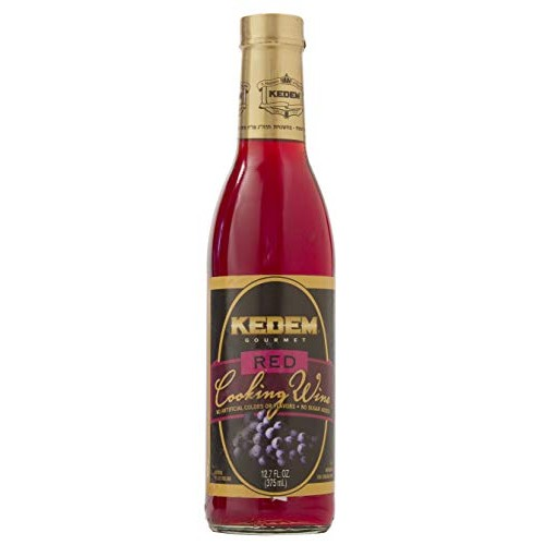 Kedem Red Cooking Wine 12.7oz Bottle, No Artificial Colors of Fl...