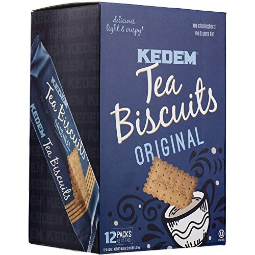 Kedem Tea Biscuits Plain, 12 Pack