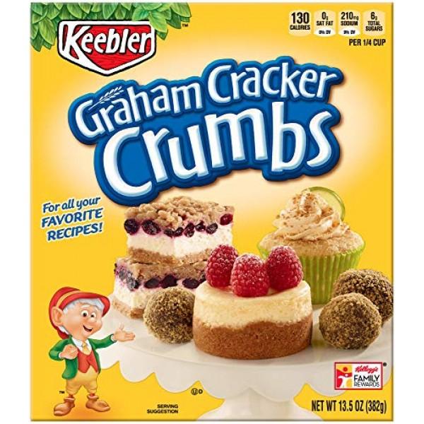 Keebler Graham Cracker Crumbs, 13.5 oz Box - Pack of 2