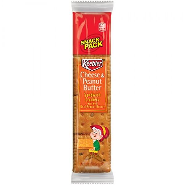 Keebler 21165 Sandwich Crackers, Cheese & Peanut Butter, 8-Piece...