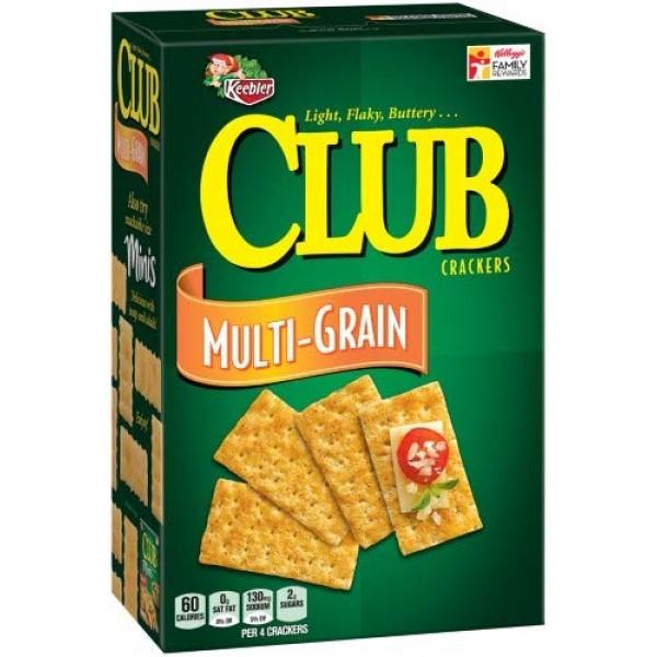 Keebler, Club, Multi-grain Crackers Pack of 4