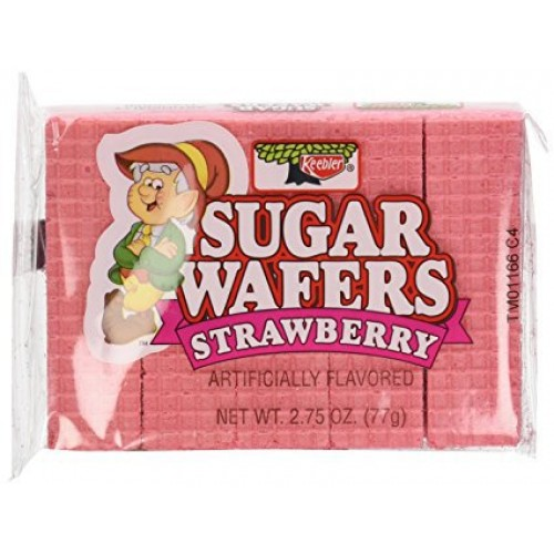 Keebler Sugar Wafers Strawberry 2.75-Ounce Packages (Pack of 12)