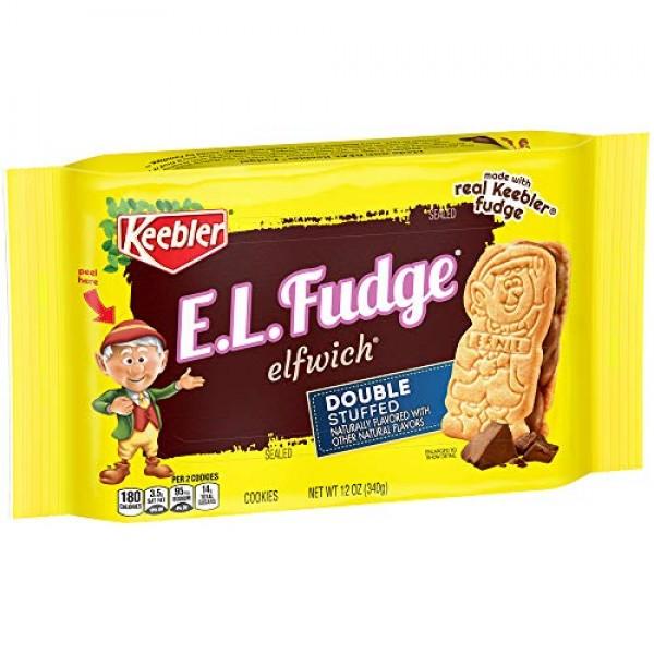 Keebler E.L. Fudge Elfwich Double Stuffed Cookies, 12 Ounce