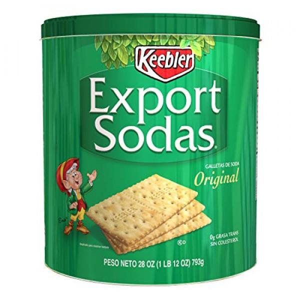 Keebler Export Sodas Original Crackers 28 Oz Can Pack of 1