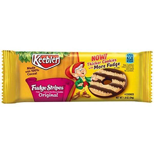 Keebler Fudge Stripes Cookies - 1.9 oz Pack 12 Packs