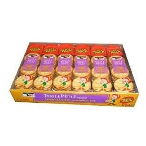 Keebler Toast and Peanut Butter and Jelly Flavored Sandwich Crac...