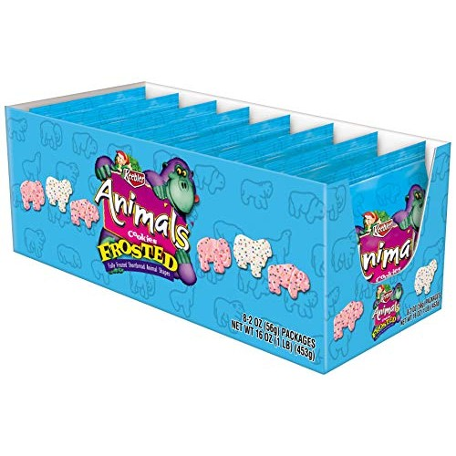 Keebler Animals, Cookies, Frosted, Bulk Size, 96 Count (Pack of ...