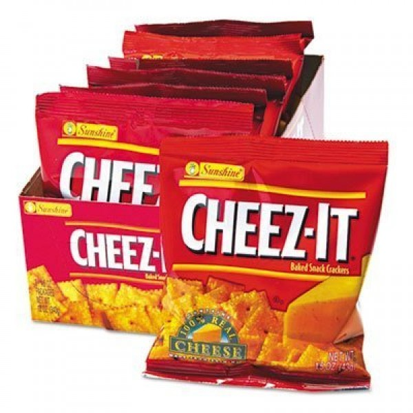 Kelloggs : Cheez-It Crackers, 1.5oz Single-Serving Snack Pack, 8...