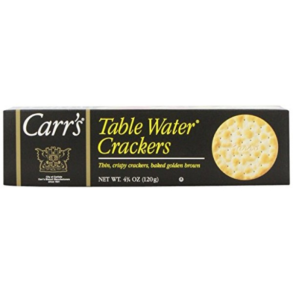 Cracker Keebler Carrs Table Water Bite Size 12 Case 4.25 Ounce