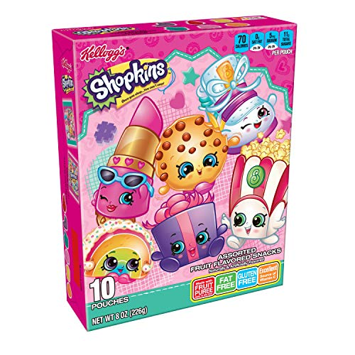 Kelloggs Fruity Snacks, Shopkins, Assorted Fruit Flavored Snack...