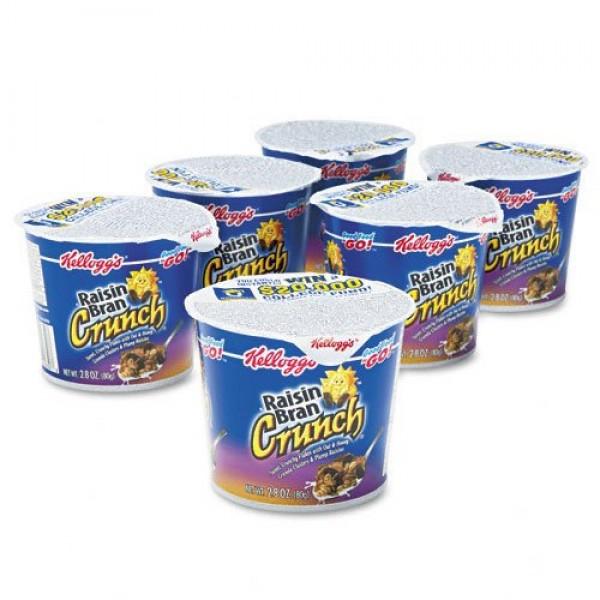 Kelloggs Raisin Bran Crunch Cereal-in-a-Cup-2.8 oz, 6 ct