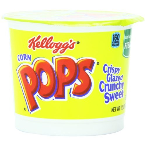 Kelloggs Corn Pops Breakfast Cereal, 1.5 Ounce Single Serve Cup...