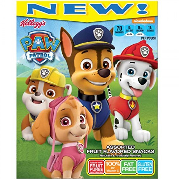 Kelloggs Fruit Flavored Snacks, Paw Patrol, 20 Ct, 17.6 Ounce