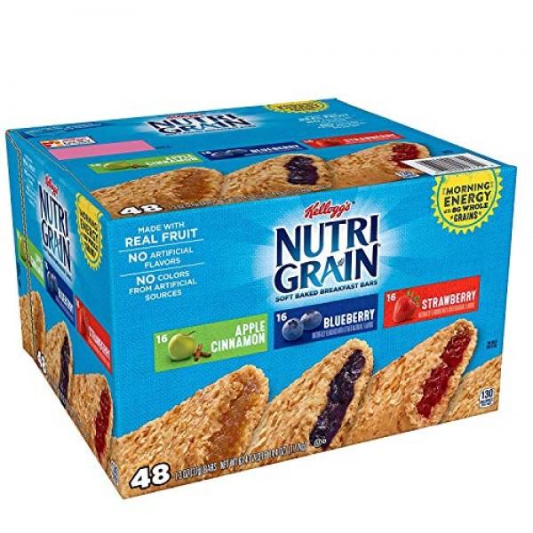 Kelloggs Nutri-Grain Variety Pack 1.3 oz., bar, 48 ct. vevo