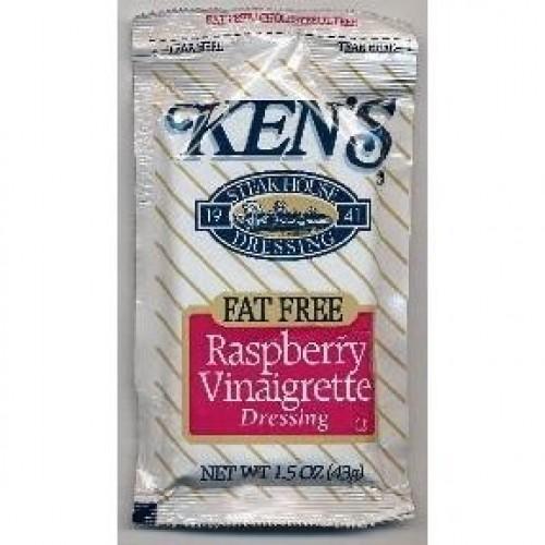 Kens Fat Free Raspberry Vinaigrette Dressing Case of 60