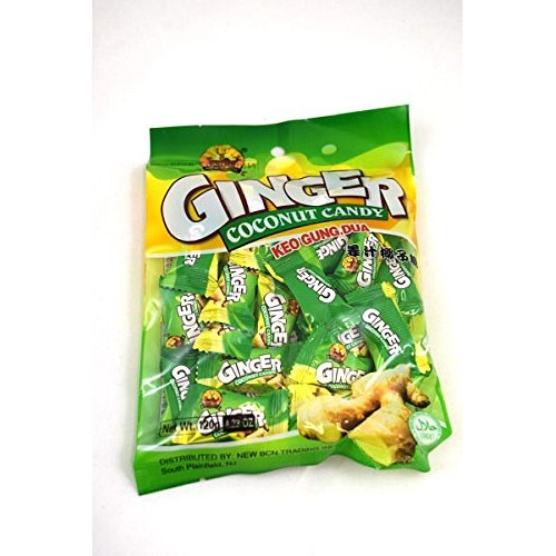 Ginger Coconut Hard Candy Keo Gung Dua 4.23 oz 120g X 6 bags
