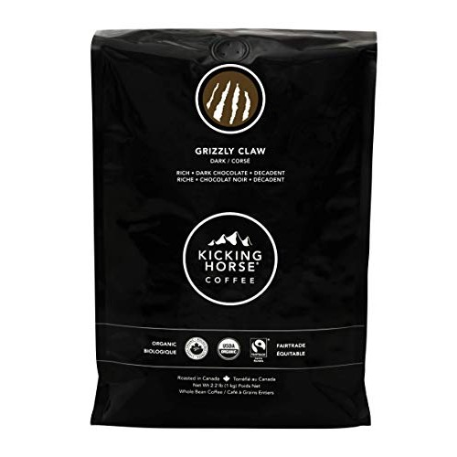 Kicking Horse Coffee, Grizzly Claw, Dark Roast, Whole Bean, 2.2 ...