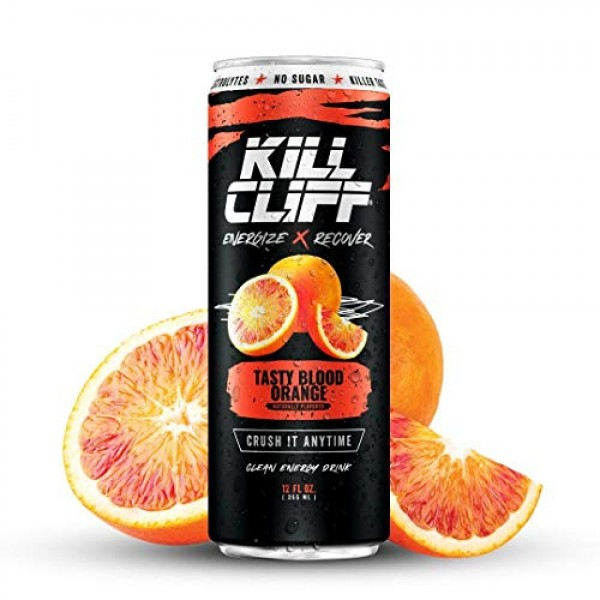 KILL CLIFF Recovery Drink, Blood Orange, 12 Oz Cans, 12 Count - ...