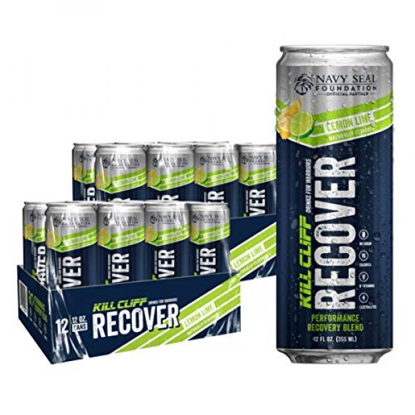 KILL CLIFF Recovery Drink, Lemon Lime, 12 Oz Cans, 24 Count - Cl...