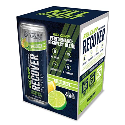 KILL CLIFF Recovery Drink, Lemon Lime, 12 Oz Cans, 4 Count - Cle...