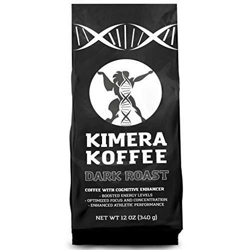 Dark Roast, Nootropic Infused Ground Coffee (12oz), Rich, Organi...