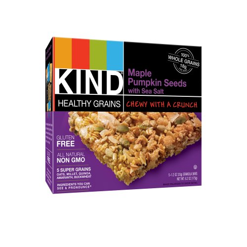 Kind Maple Pumpkin Seed Bar with Sea Salt, 5 Count Pack of 8