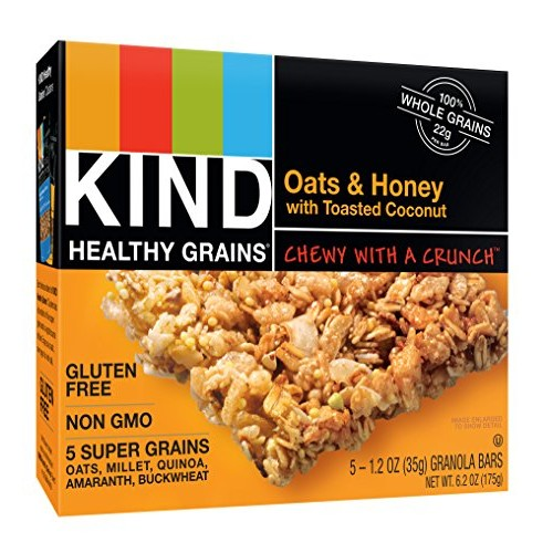 KIND Healthy Grains Bars, Oats & Honey with Toasted Coconut, Non...
