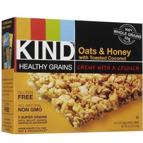 Kind Granola Bar, Oats N Honey with Coconut, 1.2-ounce Bars, 5 B...