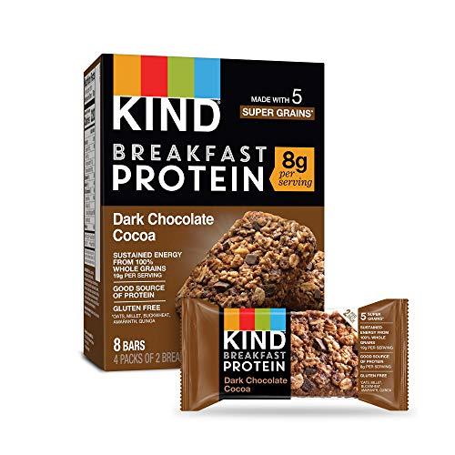KIND Breakfast Protein Bars, Dark Chocolate Cocoa, Gluten Free, ...