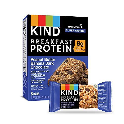 KIND Breakfast Protein Bars, Peanut Butter Banana, Gluten Free, ...