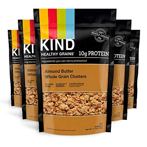 KIND Healthy Grains Clusters, Almond Butter Granola, 10g Protein...