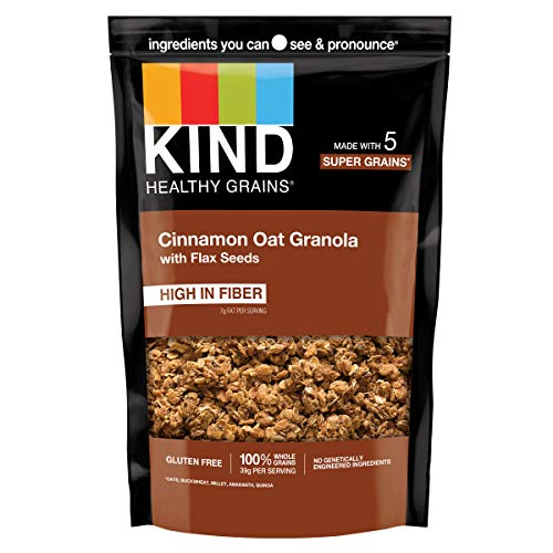 KIND Healthy Grains Clusters, Cinnamon Oat Clusters with Flax Se...